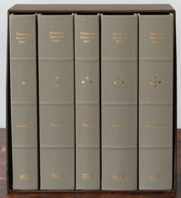 CSB Reader's Bible, Cloth-Over-Board, 5 Volumes  -