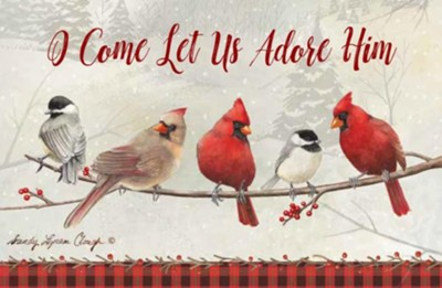 O Come Let Us Adore Him, 20 Count Christmas Boxed Cards #1   -     By: Sandy Clough