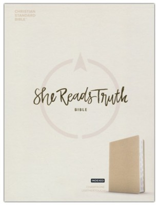 CSB She Reads Truth Bible--cloth over board, champagne (indexed)  -     By: Raechel Myers, Amanda Bible Williams