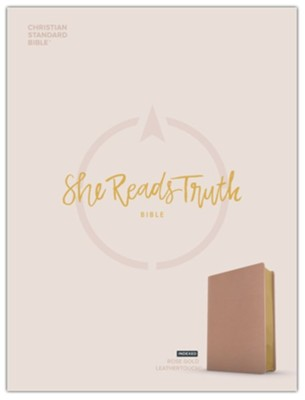CSB She Reads Truth Bible--soft leather-look, rose gold (indexed)  -     By: Raechel Myers, Amanda Bible Williams