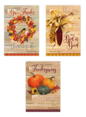 Giving Thanks Boxed Card Assortment 12 cards  -     By: Sandy Clough