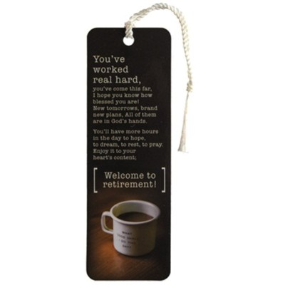 Welcome to Retirement Bookmark with Tassel  -