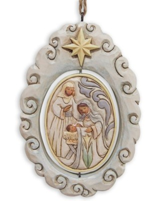 Woodland Nativity Spinner Ornament   -     By: Jim Shore