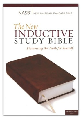 NASB New Inductive Study Bible, Imitation leather, brown  -     By: Precept Ministries