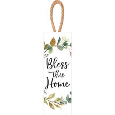 Bless This Home String Sign  -