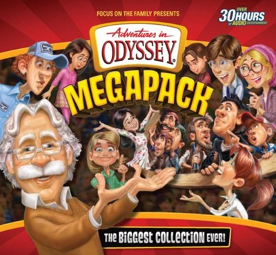 Adventures in Odyssey Megapack CD Library-75 Episodes on 25 CDs!  -