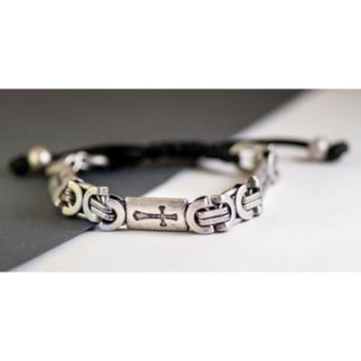 Cross Interlock Chain Bracelet