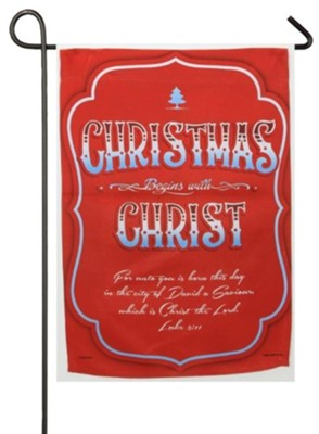 Christmas Begins With Christ, Small Flag  -