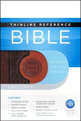 Modern English Version, Thinline Reference Bible, Chestunut/Brown imitation leather  -     By: Passio Faith