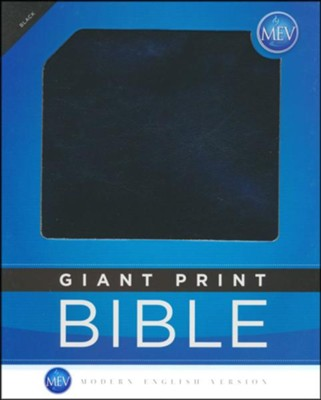 MEV (Modern English Version) Bible Giant-Print, Imitation  Leather, Black  -
