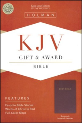 KJV Gift & Award Bible, Imitation leather, Burgundy  , B&H Books  -