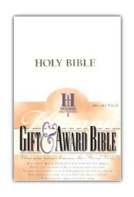 KJV Gift & Award Bible, Imitation leather, White  , B&H Books  -
