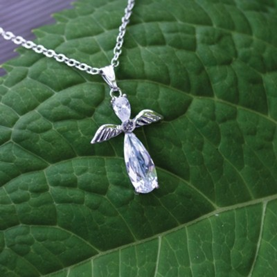 Angel Cross Necklace  -