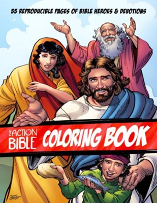 The Action Bible Coloring Book: 55 Reproducible Pages of Bible Heroes and Devotions - eBook  -     Illustrated By: Sergio Cariello