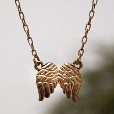 Angel Wings Necklace, Gold  -