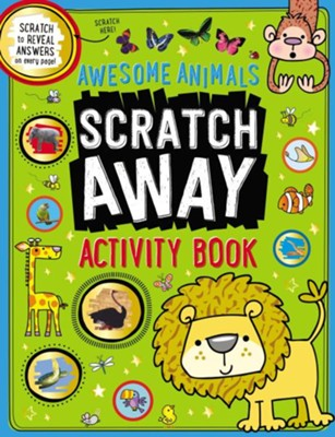 Awesome Animals Scratch Away Activity Book  -     By: Make Believe Ideas