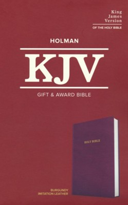 KJV Gift and Award Bible--imitation leather, burgundy  -
