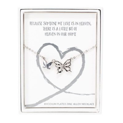 Because Someone We Love Is In Heaven Memorial Necklace  -