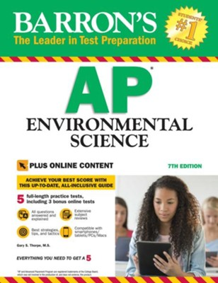 Barron's AP Environmental Science With Bonus Online Tests, 7th edition - eBook  -     By: Gary S. Thorpe