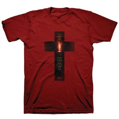 Light Cross Shirt, Cardinal Red, 4X-Large , Unisex  -