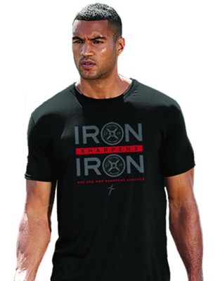 Iron Sharpens Iron, Weights, Shirt, Black, X-Large  -