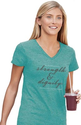 Strength and Dignity Shirt, Teal, XX-Large  -