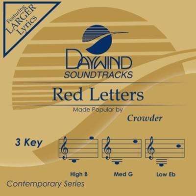 Red Letters, Accompaniment Track  -     By: Crowder