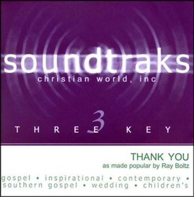 Thank You, Accompaniment CD   -     By: Ray Boltz