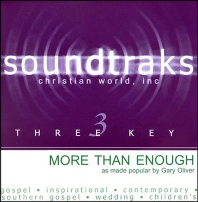 More Than Enough, Accompaniment CD   -     By: Gary Oliver
