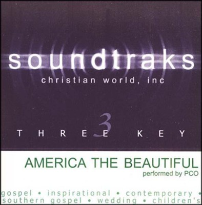 America The Beautiful, Accompaniment CD   -