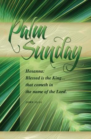 Hosanna: Blessed Is the King (John 12:13, KJV) Bulletins, 100