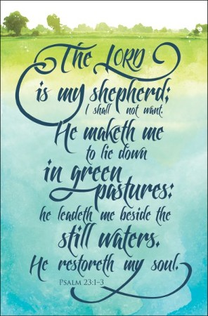 The Lord Is My Shepherd Psalm 23 1 3 Kjv Bulletins 100 Christianbook Com