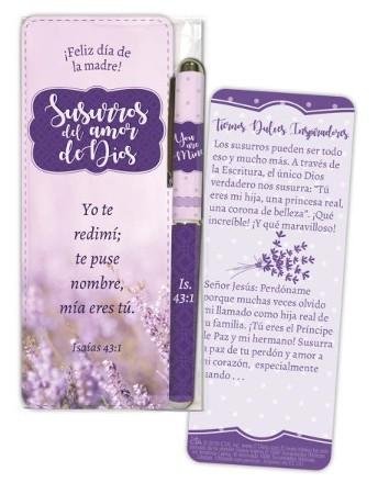 Whispers of God's Love Jumbo Bookmark and Pen Gift Set, Spanish