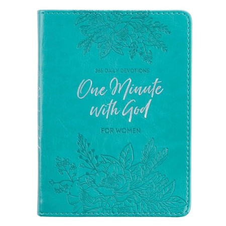 One Minute With God For Women Devotional Luxleather Turqoise 9781642721553 Christianbook Com