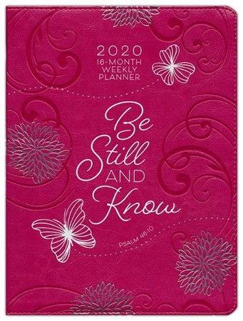 2020 Be Still and Know Planner with Zipper - 16-month Weekly Planner