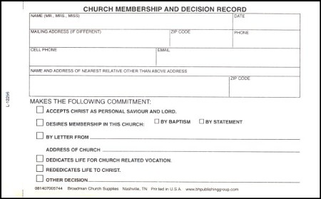 Membership And Decision Record ACM 6 Pkg Of 100