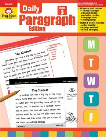 Daily Paragraph Editing, Grade 3