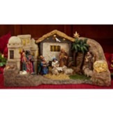 Real Life Deluxe Lighted Panorama Nativity