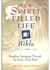 NKJV New Spirit Filled Life Bible, Burgundy Bonded Leather, Thumb Indexed - Imperfectly Imprinted Bibles