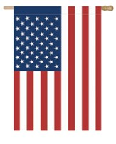 American Flag, Applique, Large