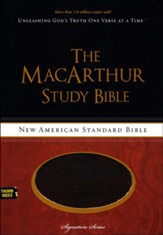 NASB MacArthur Study Bible, Leathersoft Cranberry & Earth Brown Indexed