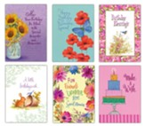 Birthday Cards with Matching Magnets, Set of 12