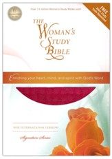 NIV Woman's Study Bible, Leathersoft Rich Rose