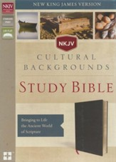 NKJV, Cultural Backgrounds Study Bible, Bonded Leather, Black - Slightly Imperfect