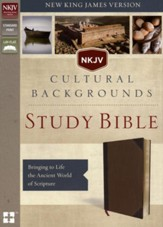 NKJV, Cultural Backgrounds Study Bible, Imitation Leather, Brown - Slightly Imperfect