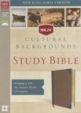 NKJV, Cultural Backgrounds Study Bible, Imitation Leather, Brown, Thumb Indexed