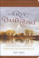 The NRSV Daily Bible: Read, Meditate, and Pray Through  the Entire Bible in 365 Days, Brown Imitation Leather