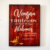 Cantemos, Cuadro (Let Us Sing, Pallet Wall Art)