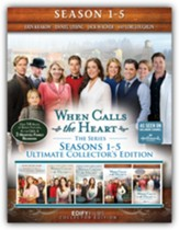 When Calls the Heart - Ultimate Collections, Seasons  1-5 on 19 DVDs, featuring 14 hours of Bonus Features