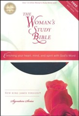 NKJV The Woman's Study Bible, Imitation Leather, Personal Size, Pink/Charcoal